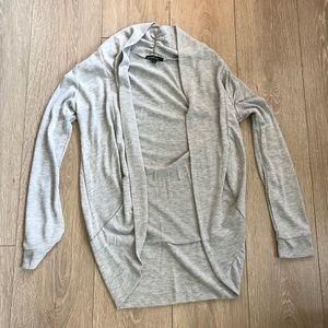 Ambiance Gray Wrap Long Cardigan Drape